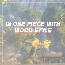 In One Piece With Wood Style
